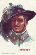 C.P. Fantaisie - Militaria - Illustrateur Emile DUPUIS - Ed COLOR , Paris - N° 53 - Bertaglier Italien (3327) - Dupuis, Emile