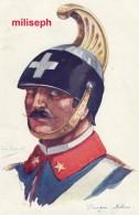 C.P. Fantaisie - Militaria - Illustrateur Emile DUPUIS - Ed COLOR , Paris - N° 54 - Dragon Italien     (3328) - Dupuis, Emile