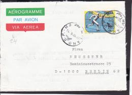 A21  /  Italien Aerogramme Luftpost  / Milano - Berlin - Interi Postali