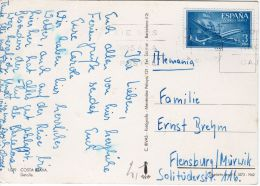Karte Von Der Costa Brava Nach Flensburg, Siehe Scan, Los 39136 - 1931-Heute: 2. Rep. - ... Juan Carlos I