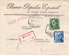 Schöner Brief Avom 20.6.1950 Ab Las Palmas  Nach Hamburg, Deutschland, Siehe Scan, Los 39144 - 1931-50 Lettres