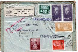 4.5.1950 ,  Interessanter Brief Ab Lugo Nach  Duisburg  Deutschland, Siehe Scan, Los 39154 - 1931-50 Lettres