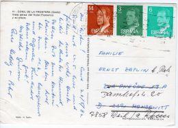 Karte  Ab  Gadiz  Nach Weil  Deutschland, Siehe Scan, Los 39165 - 1931-Heute: 2. Rep. - ... Juan Carlos I