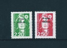 Timbres De St Pierre Et Miquelon  De 1991  N°552/53  Neufs ** Parfait Vendu Valeur Faciale - St.Pierre & Miquelon