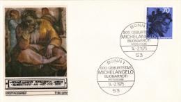 Duitsland - FDC 14-2-1975 - 500.Geburtstag Von Michelangelo (1475 - 1564), Italien - Michel 833 - [7] République Fédérale