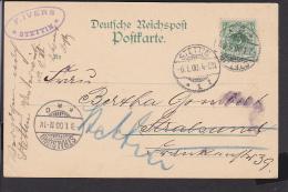 A21  /  D. Reich Heimatbeleg / Stettin - Stralsund 1900 - Deutschland