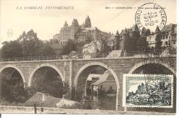 N°Y&T 1040   TP+CACHET+ CP CORRESPONDANTE (document Philatélique) - Marcofilia (sobres)