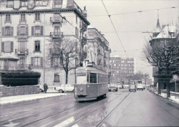 Chemin De Fer CGTE, Tram à Genève, Photo 1967 BVA CGTE 172.6 - GE Ginevra