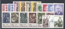 Isole Faroer 1984 Annata Completa / Complete Year Set **/MNH VF - Färöer Inseln