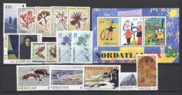 Isole Faroer 1996 Annata Completa / Complete Year Set **/MNH VF - Färöer Inseln