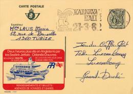 PUBLIBEL 27659F : SEALINKS JETFOILS - OSTENDE - DOUVRES - ENVOYÉ De TUBIZE à LUXEMBOURG En 1982 (o-284) - Enteros Postales