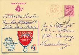 PUBLIBEL 2777F : LES VINS DE PAYS DU MIDI DE LA FRANCE - ENVOYÉ De DEUX-ACREN à LUXEMBOURG En 1983 (o-286) - Stamped Stationery