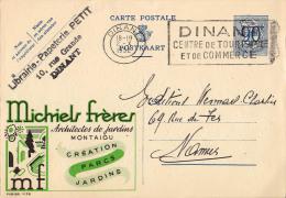 PUBLIBEL 1128 : MICHIELS FRÈRES - ARCHIETES DE JARDINS - MONTAIGU - ENVOYÉ De DINANT à NAMUR En 1952 (o-288) - Publibels
