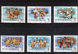 1986 - COUTUMES HIVERNALES ROUMAINES  Mi 4312/4317 Et Yv 3718/3721 MNH - 1948-.... Republiken