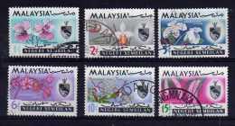 Negri Sembilan - 1965 - Orchids (Part Set) - Used - Malaysia (1964-...)