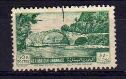 Lebanon - 1950 - 50p Nahr-El-Kalb Bridge - Used - Liban