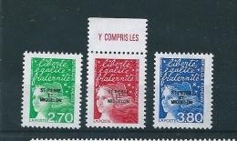 Timbres De St Pierre Et Miquelon  De 1997  N°650 A 652  Neufs ** Parfait - St.Pedro Y Miquelon