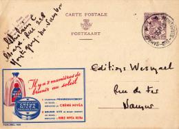 PUBLIBEL 920 : CRÈME NIVEA Et HUILE NIVEA ULTRA - ENVOYÉ De MONTIGNIES-SUR-SAMBRE à NAMUR En 1950 (o-296) - Enteros Postales