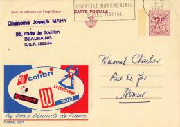 PUBLIBEL 2357F : BISCUITS DE FRANCE : COLIBTI - LU - BELIN - OLIBET... - ENVOYÉ De BEAURAING à NAMUR En 1969 (o-299) - Stamped Stationery