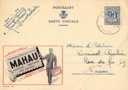 PUBLIBEL 998 : MAHAU - IMPERMÉABLES - LODEN - REGENMANTELS - GABARDINES - ENVOYÉ De LENDELEDE à NAMUR En 1962 (o-302) - Stamped Stationery