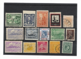 LOT  De  15  TIMBRES  =  HONDURAS + BRITISH GUIANA + BULGARIE + URSS + HONGKONG + BELGIQUE + URUGUAY + USA + NEW ZEALAND - Kilowaar (max. 999 Zegels)