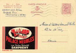 PUBLIBEL 2130 : PALACE MEUBLES - DAMPREMY - ENVOYÉ De MONTIGNIES-SUR-SAMBRE à NAMUR En 1966 (o-316) - Stamped Stationery
