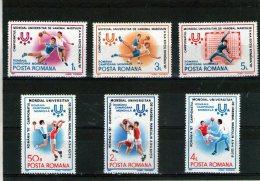 1987 - Champ. Du Monde De Handball Mi 4341/4346 Et Yv 3737/3742 MNH - Ungebraucht