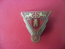 INSIGNE @ Ancien Insigne De 1939 - 1950 @ Base école Aérienne 720 De Caen Carpiquet - A 511 Drago - émail Rouge - Armée De L'air