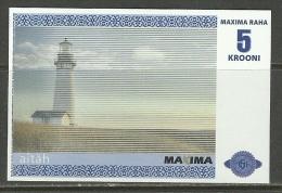 ESTLAND ESTONIA Estonie 5 Krooni MAXIMA Geld Money 2010 - Estland