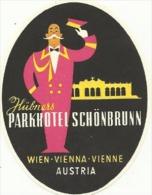 Etiquette De Bagage - Parkhotel Schönbrunn - Wien (Vienne) (Autriche) - Etiquetas De Hotel