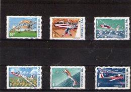 1987 - Planeurs Et Avions Mi 4353/4358 Et Yv P.A. 301/306 MNH - 1948-.... Republiken
