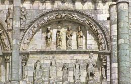 CIVRAY DETAIL DE LA FACADE DE L'  EGLISE ST NICOLAS ( LES 3 CARTES ) - Civray