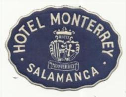 Etiquette De Bagage - Hotel Monterrey - Salamanca (Espagne) - Etiketten Van Hotels