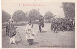 CPA AFRIQUE CONGO L'Armée Du Chef De Baboua Congo Français De La Sangha Au Tchad - Congo Francese - Altri
