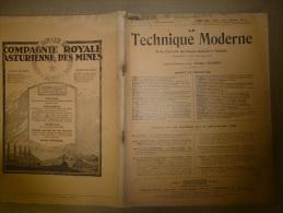 15 Décembre 1928  LA TECHNIQUE MODERNE :  Et Aussi   La XXIIe Exposition Internationale De L' AUTOMOBILE - Livres, BD, Revues