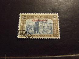 CIRENAICA 1929 MILIZIA II 1,25+0,50 L USATO - Cirenaica