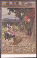 Paul Hey Märchen Karte Nr.15  Color Rübezahl  Gebrüder Grimm - Contes, Fables & Légendes