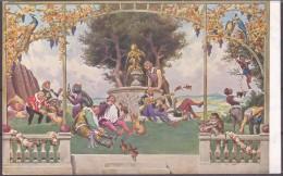 Paul Hey Märchen Karte Nr.11 Color Schlaraffenland Kater Gebrüder Grimm - Contes, Fables & Légendes