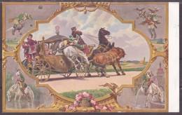 Paul Hey Märchen Karte Nr.10 Color Münchhausen  Gebrüder Grimm - Contes, Fables & Légendes