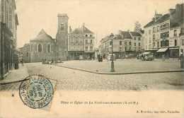 Juin13 1492 : La Ferté-sous-Jouarre  -  Place  -  Eglise - La Ferte Sous Jouarre