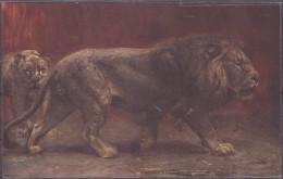 Raphael Tuck Und Sons Moderne Meister Löwen Paul Meierheim - Animaux & Faune