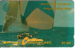 ANTIGUA & BARBUDA(GPT) - Sailing Week 1(error Colour), CN : 7CATC, Tirage 50000, Used - Antigua And Barbuda