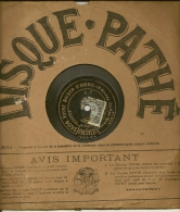 90 Tours Saphir PATHE 1909/1912 N° 2694 VOTRE BAISER D'ADIEU + N° 4449 Bis APRES La RUPTURE - 78 G - Dischi Per Fonografi