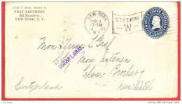 USA FRONT OF ENVELOPE Sc. #U377 5 CENTS - Entiers Postaux