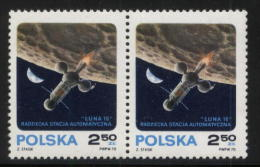 POLAND 1970 AUTOMATIC SPACE STATION LUNA 16 IN ORBIT PAIR NHM Russia USSR ZSSR Cosmos Take Off From Moon - Ongebruikt
