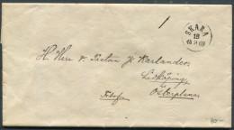 1869 Sweden Skara Fribrev Entire - Lindkoping