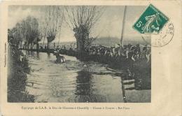 CHASSE A COURRE EQUIPAGE DE S.A.R.  LE DUC DE CHARTRES A CHANTILLY   BAT L'EAU - Chasse