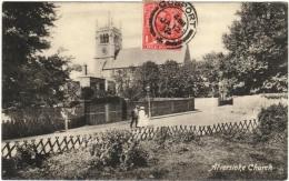 CPA DE ALVERSTOKE  (ROYAUME-UNI)  ALVERSTOKE CHURCH - Angleterre