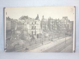 Carte Photo. Antwerpen. Anvers. Volkstraat. 8/9 Okt.1914. Bombardement. Militaria. - Lugares