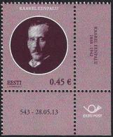 Estonia Estland Estonie 2013 (12) Heads Of State Of The Republic Of Estonia - Kaarel Eenpalu (with Number Of Issue) - Estland